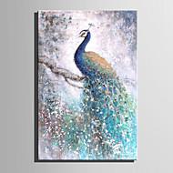 Kézzel festett Absztrakt Virágos / Botanikus Festmények,Modern Európai stílus Egy elem Vászon Hang festett olajfestmény For lakberendezési