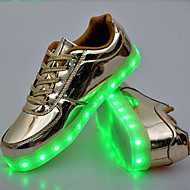 UnisexConfort Innovador Light Up Zapatos-Zapatillas de Atletismo-Exterior Informal Deporte-PU-Dorado Plata