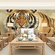 Blomster / Art Deco / 3D Bakgrunn For Hjem Moderne Tapetsering , Lerret Materiale selvklebende nødvendig Mural , Room wallcovering
