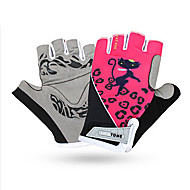Gloves Sports Gloves Women's Cycling Gloves Summer Bike Gloves Shockproof Breathable Wearable Quick Dry Fingerless Gloves Mesh Lycra Pink
