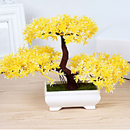 1 Une succursale Polyester Plastique Plantes Fleur de Table Fleurs artificielles 10.92 x 4.82 x 7.36 (4.3'' x 1.9'' x 2.9'')