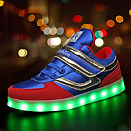Garçon-Extérieure Sport Décontracté-Noir Bleu-Talon Plat-Confort Light Up Chaussures-Baskets-Synthétique