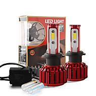 2017 nouvelle puce 60w 6000lm cob h7 conduit kit de conversion de phare 2 couleurs 5000K yale 6000k jaune ampoules blanc paire de lampe