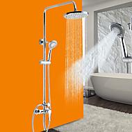 Traditionell Modern Duschsystem Breite spary Handdusche inklusive with  Keramisches Ventil Einzigen Handgriff Zwei Löcher for  Chrom ,