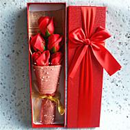 3 Ág Igazi érintés Rózsák Asztali virág Művirágok 34*10*5