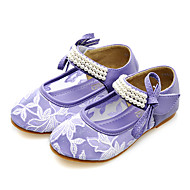 Flats Spring Summer Fall Comfort Light Up Shoes Tulle Dress Casual Party & Evening Flat Heel Beading Pearl Purple