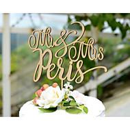 Tortenfiguren & Dekoration individualisiert Kartonpapier Hochzeit Gelb Klassisches Thema Weinlese-Thema rustikales Theme 1 Poly Tasche