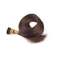 브라질 처녀 유럽 붙임 머리 내가 끝은 인간의 머리카락 확장 부드러운 직선 여러 인치 여러 색 16 ~ 24 인치 100 단위 / 많은 스틱