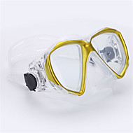 Dykkermasker Svømming Goggles Svømmebriller Dykking og snorkling Svømming Plast Glass Rød Gul Blå Svart Hvit-THENICE