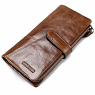 Sports Casual Outdoor Office & Career Shopping-Checkbook Wallet-Cowhide-Men