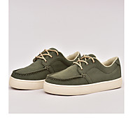 Women's Sneakers Spring Summer Fall Comfort Canvas Outdoor Office & Career Casual Flat Heel Lace-up Army Green Walking