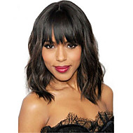 Femei Peruci Păr Uman Păr Natural Față din Dantelă Tresă Față Fără Lipici 130% Densitate Ondulat Ușor Perucă Negru Scurt Mediu pentru