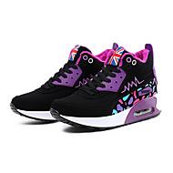 Women's Sneakers Fall / Winter Comfort Fleece Casual Flat Heel Lace-up Blue / Pink / Purple / Fuchsia