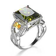 Ring Kvadratisk Zirconium Zirkonium Kvadratisk Zirconium Legering Grøn Smykker Bryllup Afslappet 1 Stk.