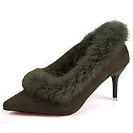 נשים-מגפיים-סוויד-נוחות-שחור ירוק צבאי-יומיומי-עקב סטילטו