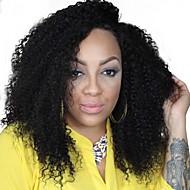 120 פאת בתולה מלזית צפיפות שיער פאות מסולסלות קינקי אפר שיער אדם תינוק מלא מתולתלת קינקי תחרת פאת שיער צבע שיער טבעי