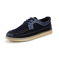 Men's Oxfords Spring Fall Comfort Suede Casual Flat Heel Lace-up Blue Other