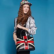 HOWRU ® Women 's PU Tote Bag/Single Shoulder Bag/Crossbody Bags-Black/Blue