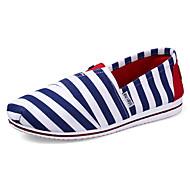 Damen-Loafers & Slip-Ons-Outddor Lässig Sportlich-Leinwand-Flacher Absatz Keilabsatz-Komfort-Schwarz Blau Gelb Rosa Rot Gold Orange