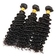 8A Brazilian Deep Wave 3 Bundles Virgin Hair Deep Curly Virgin Brazilian Hair Extensions Deep Wave Brazilian Hair Weave Bundles Human Hair 300g