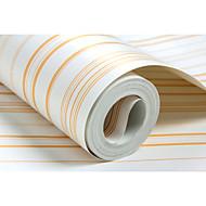 Stribe Solid Tapet til Hjemmet Moderne Tapetsering , Non-woven papir Materiale selvklebende nødvendig bakgrunns , Tapet