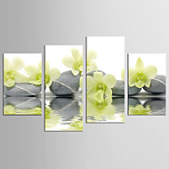 Canvas Set Abstrakt Blomstret/Botanisk Moderne Realism,Fire Paneler Canvas Alle Shape Print Art Wall Decor For Hjem Dekoration