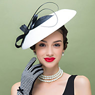 Women's Feather Polyester Headpiece-Wedding Special Occasion Casual Fascinators 1 Piece