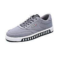 Men's Sneakers Spring Fall Comfort Canvas Casual Flat Heel Lace-up Black Blue Red Gray Walking