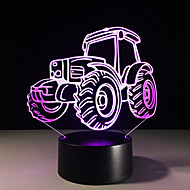 1pc Traktor bunt Vision Stereo-LED-Lampe 3d Lampe bunten Gradienten Acryl Lampe Nachtlicht Vision