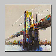 Ručně malované Krajina Abstraktní krajinka olejomalby,Moderní evropský styl Jeden panel Plátno Hang-malované olejomalba For Home dekorace