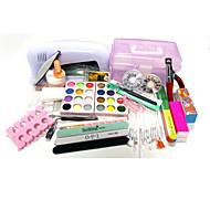caixa de art art kit quantidade lâmpada embalagem prego prego decoração tipo de estilo de unhas diy 9W uv