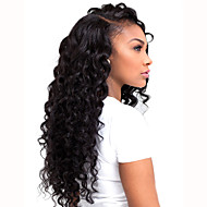 HOT Long Curly Black Synthetic L Part Lace Wigs Top Quality Heat Resistant Fiber Synthetic Hair For Women