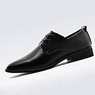 Men's Oxfords Spring Fall Comfort Fabric Athletic Flat Heel Lace-up Black Brown