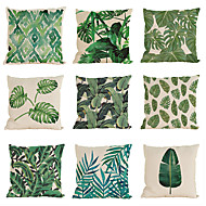 Set of 9 Novelty  Tropical plant pattern Linen Pillowcase Sofa Home Decor Cushion Cover