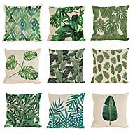 9 pçs Linho Cobertura de Almofada Fronha,Sólido Textura Moderno/Contemporâneo Casual Tradicional/Clássico Estilo Praia Tropical
