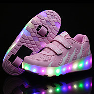 2017 Kids Boy Girl's Roller Skate Shoes / Ultra-light One Two Wheel Skating LED Light Fashion Shoes / Athletic / Casual LED WHeelys Shoes Black Pink