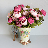1 haara Polyesteri Pioonit Pöytäkukka Keinotekoinen Flowers 10