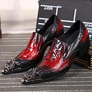 Черный-Мужской-Свадьба Для офиса Повседневный Для вечеринки / ужина-Наппа LeatherУдобная обувь-Туфли на шнуровке