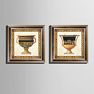 E-HOME® Framed Canvas Art Retro Patterned Cup Framed Canvas Print Set One Pcs