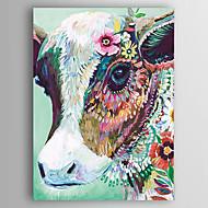 Handgemalte Abstrakt Tier Vertikal,Modern Ein Panel Leinwand Hang-Ölgemälde For Haus Dekoration