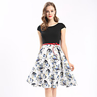 Maxlindy Women's Going out Casual/Daily Holiday Vintage A Line Dress