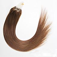 κορυφαία ποιότητα μικρο δαχτυλίδι βρόχο μαλλιά επεκτάσεις βραζιλιάνα παρθένα μαλλιά μεταξένια και λεία ίσια μαλλιά Περού μικρο βρόχο