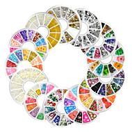 13 Unha Arte Decoração strass pérolas maquiagem Cosméticos Designs para Manicure