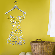 English Words & Quotes DIY Mirror Wall Stickers Home Decoration Wall Decal