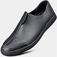 גברים-נעלי ספורט-עור-נוחות-שחור עירום-יומיומי