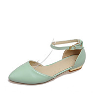 Women's Sandals Summer Comfort D'Orsay & Two-Piece Leatherette Dress Casual Low Heel Buckle Hollow-out White Green Blushing Pink