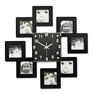 arrival home wall clock bedroom living room decoration photo frame photowall clock fashion bridal decoration watches