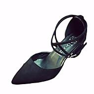Sandals Spring Comfort PU Outdoor Flat Heel Lace-up Black Gray Walking