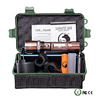 Lanternas LED Kits de Lanternas LED 2000 Lumens 5 Modo Cree XM-L T6 18650.0 AAA Regulável Foco Ajustável ZoomableCampismo / Escursão /