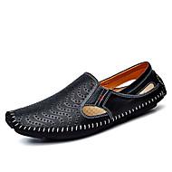 Herren Schuhe PU Frühling Herbst Komfort Tauchschuhe Loafers & Slip-Ons Für Weiß Schwarz Gelb Blau